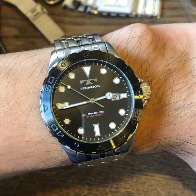 นาฬิกา TECHNOS ระบบQuartz ขนาด44มม.