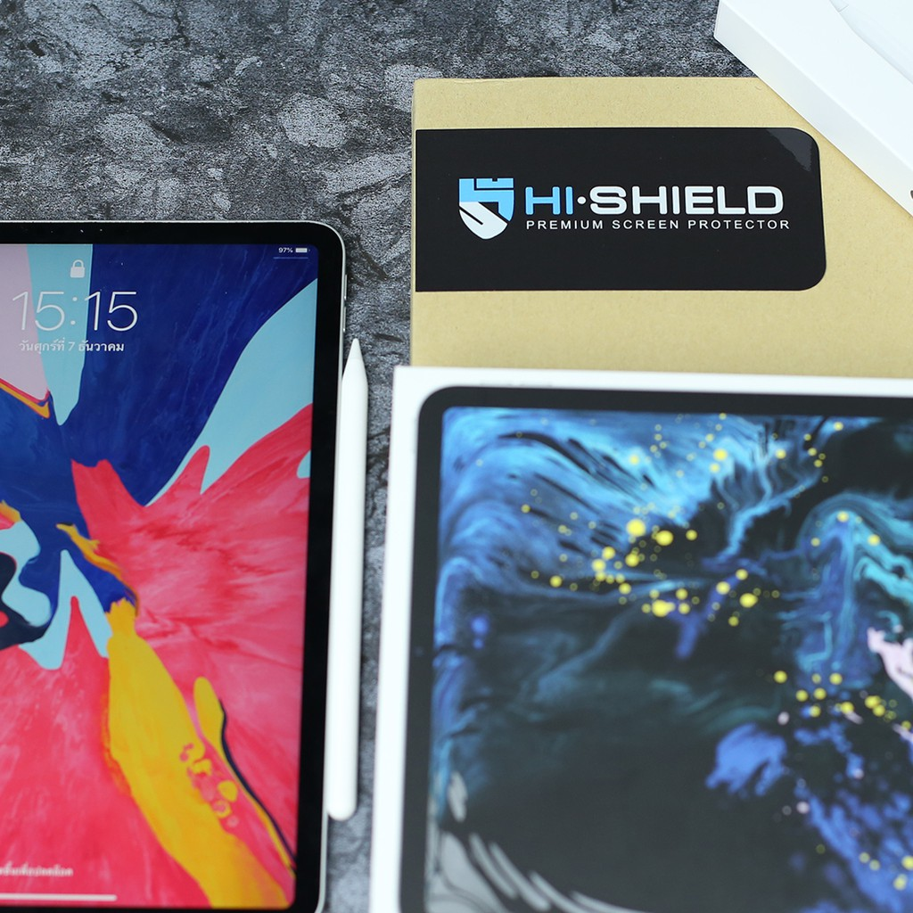 Image # 6 of Review Hi-Shield Tempered glass  iPad Pro (2018) 12.9″นิ้ว (แบบใสเต็มจอ)