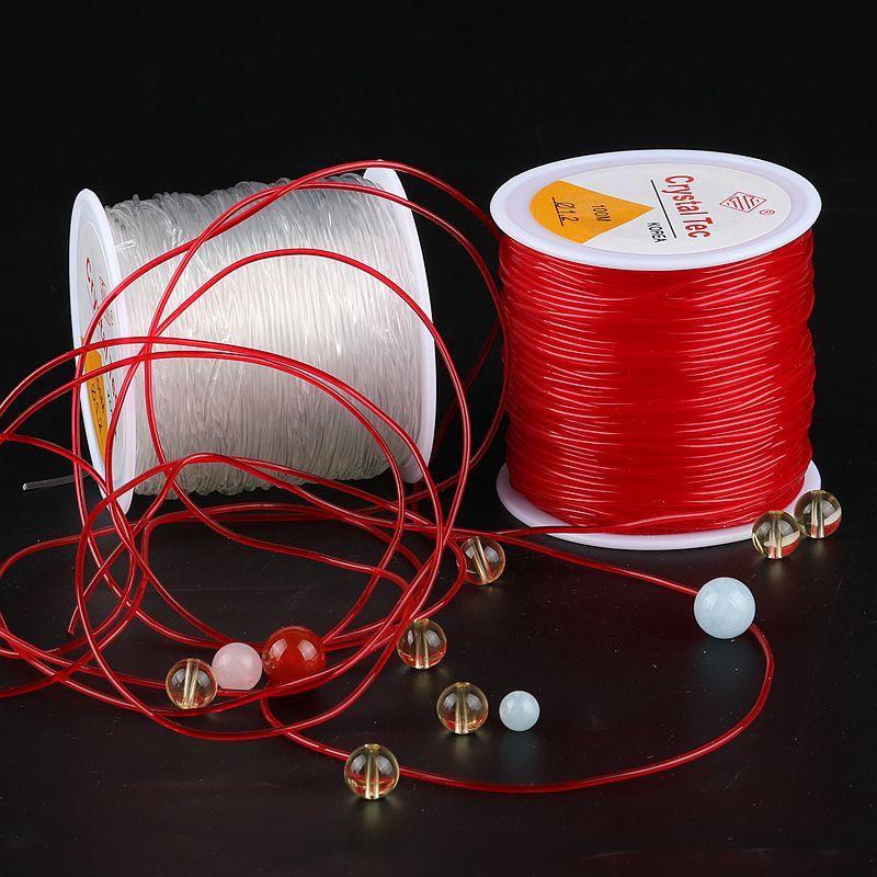 เชือกยืดหยุ่น รูปทรง สําหรับใช้ในการเล่นโยคะ ออกกําลังกาย◄◊☽ด้ายสร้อยข้อมือ เชือกลูกปัด เชือกยางยืดคริสตัลใสกลม ด้าย DIY