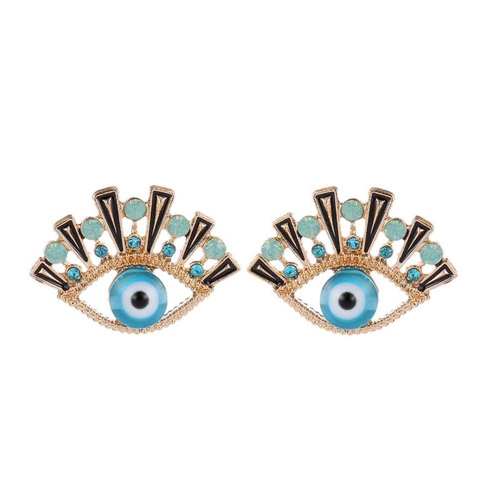 Elegant Multicolor Flower Stud Earrings Crystal Rhinestone Fashion Jewelry