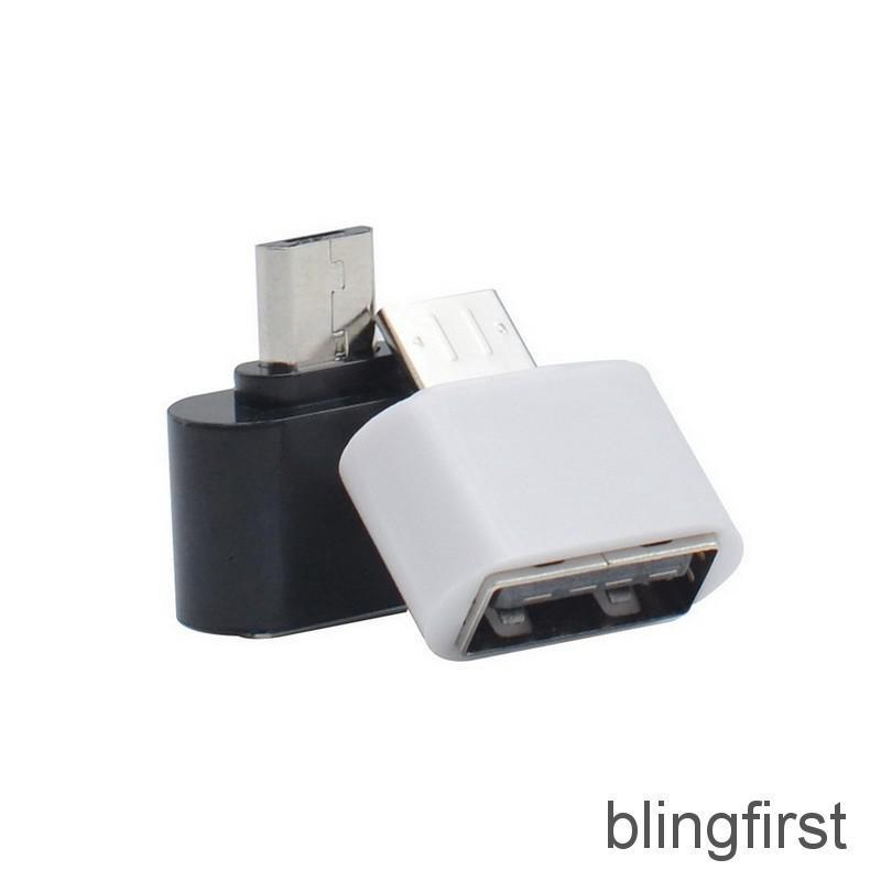 【∮】 2pcs Micro USB Male To USB A 2.0 Adaptador OTG Convertidor Adapter Converter