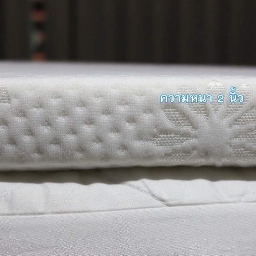 topper 5 ฟุต ที่นอน topper ที่นอนยางพาราแท้ topper ยางพารา มีซิปถอดซักได้  คุณภาพส่งออก  3.5 ฟุต
