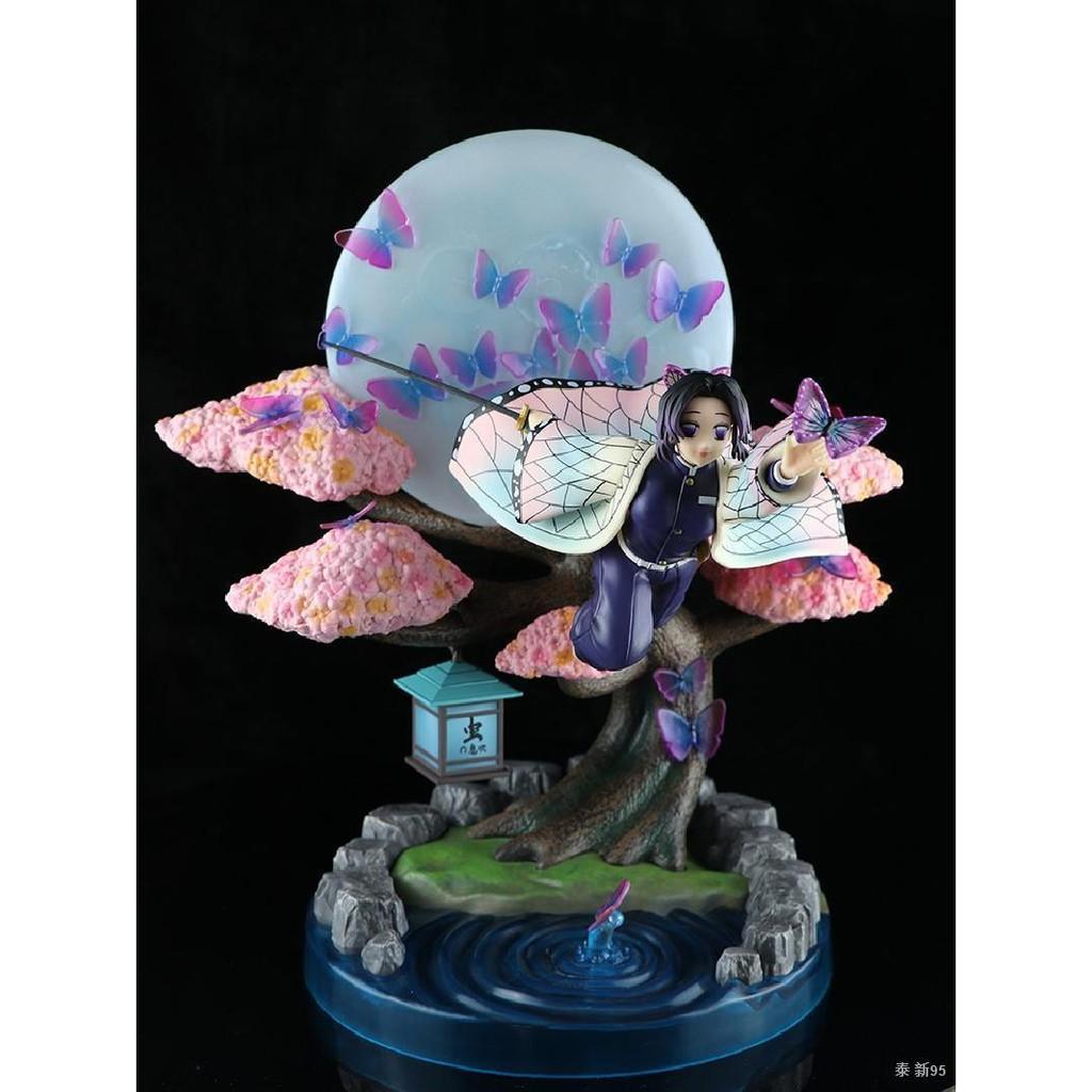 Devil's Blade Anime Figure Kochou Shinobu Demon Slayer GK Flying Posture Moon Anime Statue Kimetsu No Yaiba Action Figur