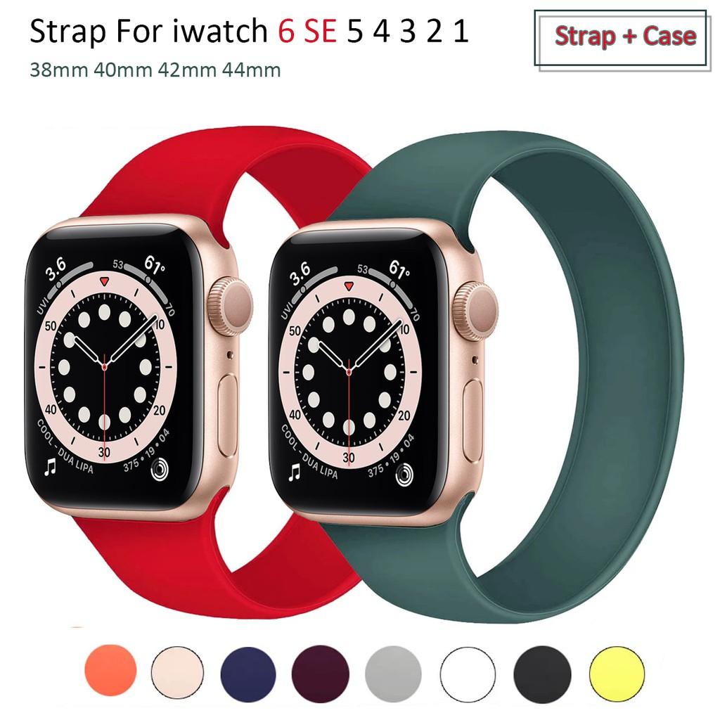 สายนาฬิกาข้อมือซิลิโคนสําหรับ Apple Watch 6 Band 44 มม . 40 มม . สําหรับ Iwatch Band Series 6 Se 5 4 3 2 1 38 มม . 42 มม .