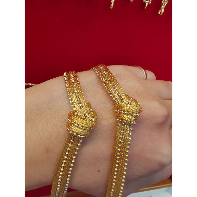 ซื้อเฮงใส่ดี สร้อยมือทอง 96.5%  น้ำหนัก 1บาท ยาว 16 cm ราคา 28,900บาท