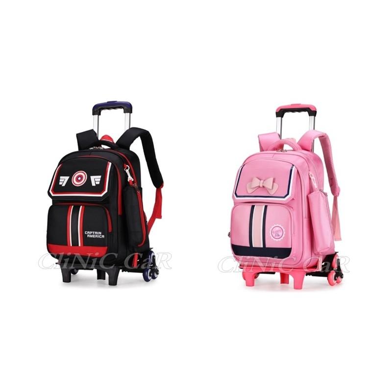 กระเป๋าเดินทางหรือกระเป๋านักเรียน V.28  ล้อลาก 6 ล้อ