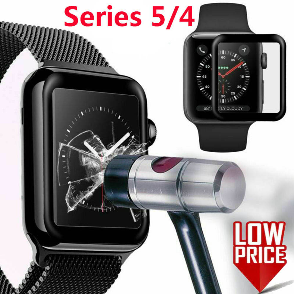 [Ready Stock]40/44mm 3D Bending Watch Case Protector Screen 9H Rigidity Tempered Glass For Apple iWatch 5/4