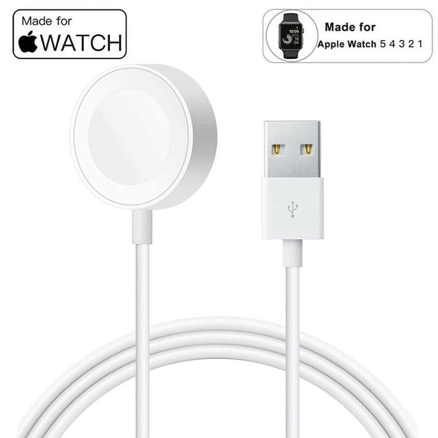 CODPortable Smart USB Watch Charger Cable Magnetic Wireless Charging Dock for Apple IWatch Series 5 4 3 2 1 Applewatch f