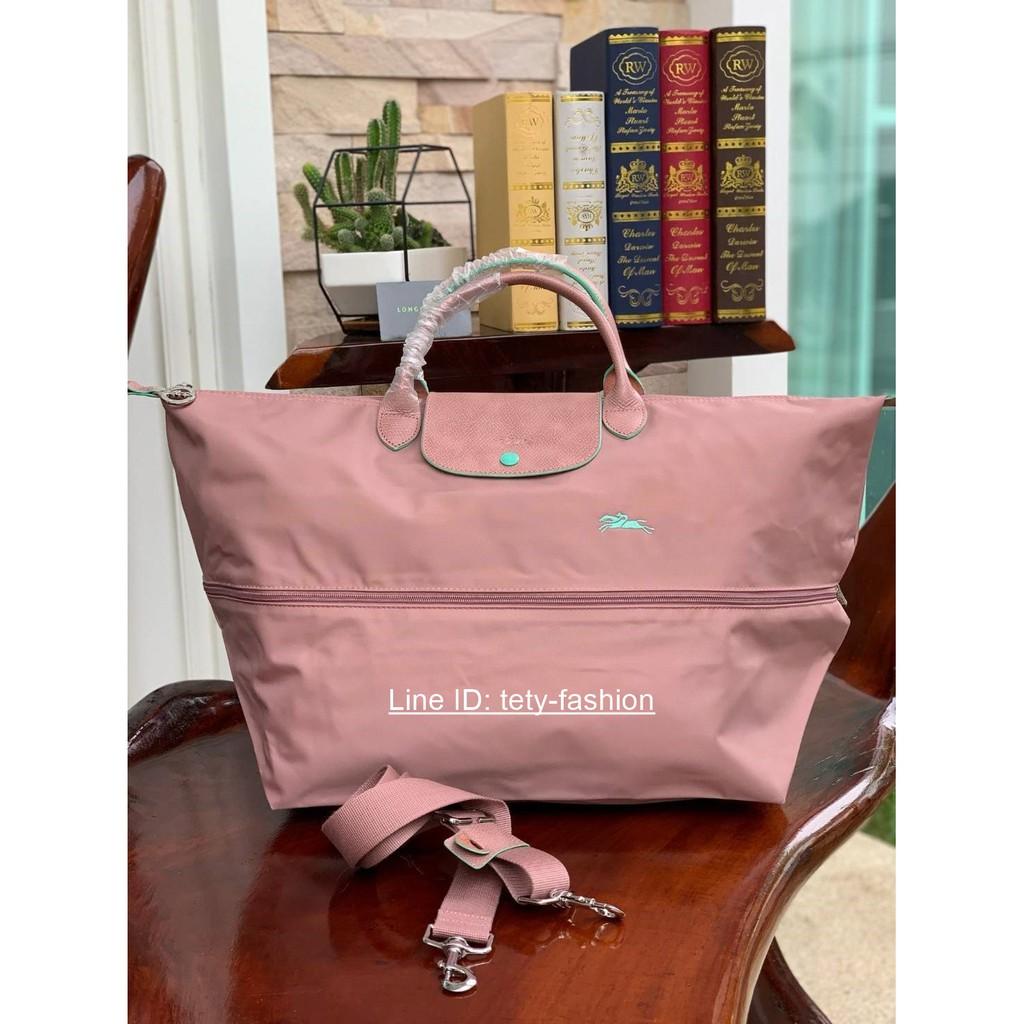 กระเป๋าเดินทางสีชมพู LONGCHAMP LE PLIAGE CLUB TRAVEL BAG