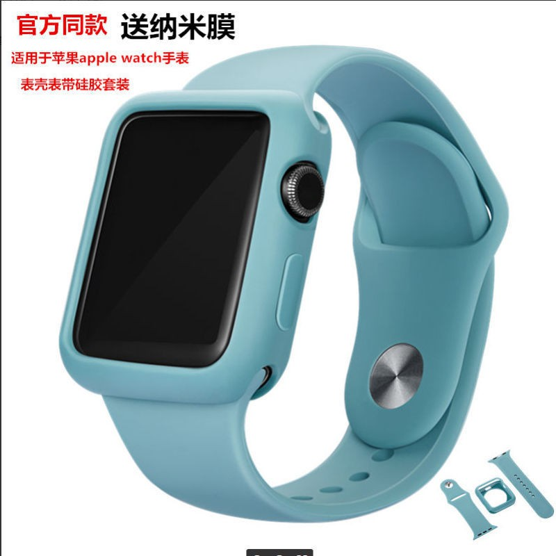 ❤【Promotion】Applicable Apple Watch Strap Applewatch Case iwatch2/3/4/5/6 Silicone One 42mm44