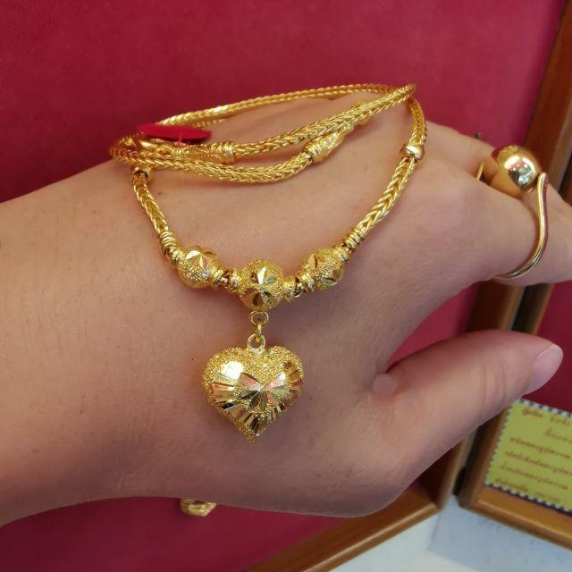 สร้อยคอทอง  96.5%  น้ำหนัก 2 บาท ยาวไม่รวมจี้ 22cm ราคา 57,750บาท