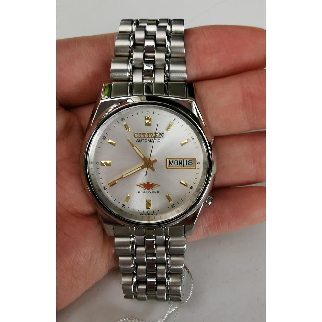 Citizen 21Jewels นาฬิกาผู้ชาย หน้าปัดขาว Automatic รุ่น NH6430-52A