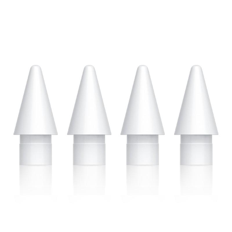 ஐ✿> [4 แพ็ค] Apple pencil tip ipad stylus replacement pen แผ่นปิดกันลื่นไวต่อแรงกดรุ่นที่ 1 รุ่นที่ 2 ปากกาตัวเก็บประจุ