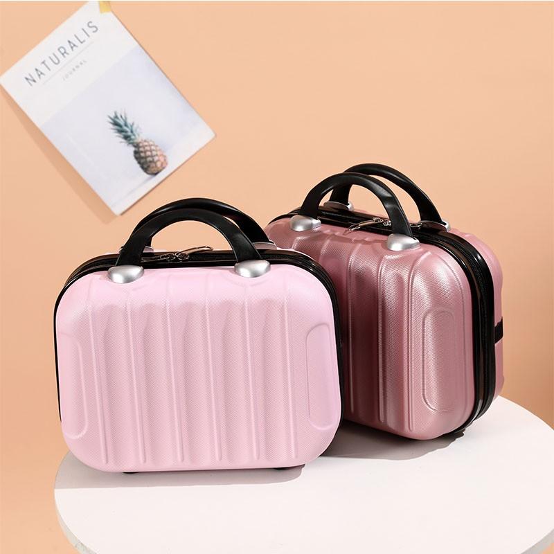 กระเป๋าเครื่องสำอางค์พกพา  เกาหลีมินิ14กระเป๋าแต่งหน้าพกพาขนาดเล็กนิ้วกล่องเจ้าหญิงน่ารัก16ความจุขนาดใหญ่กระเป๋าเดินทางท