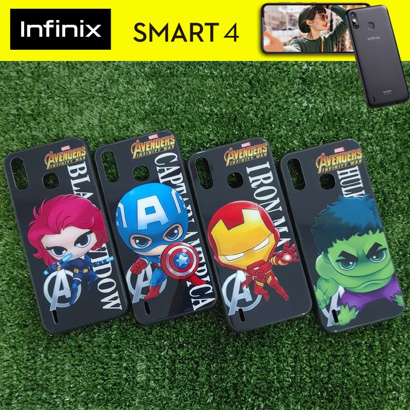เคส ขอบยาง  3D Pattern Case สำหรับ Infinix Smart 4