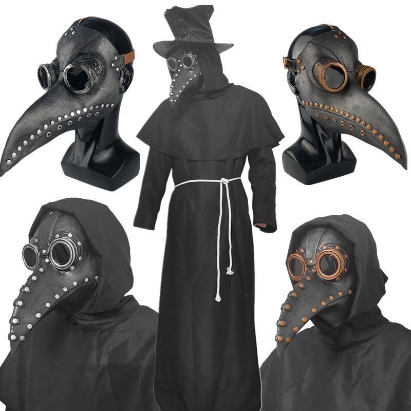 หน้ากากฮาโลวีนฮาโลวีนCOSเสื้อผ้าอบไอน้ำพังก์ยุคกลางอุณหภูมิตัวเมียแพทย์จะงอยปากหน้ากาก SCP049สีดำอีกาหมวก NOw6