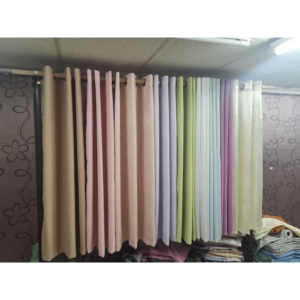 ผ้าม่าน UV 1.00*1.30 79 บาท ผ้าม่านสำเร็จรูป ม่านตาไก่ หน้าต่าง กันแสง กันยูวี 75%