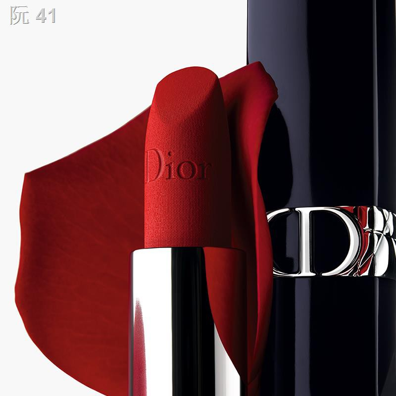 ▫☊[Official authentic] Brand new DIOR Diorie bright blue gold lipstick replacement core 999 Velvet Matte