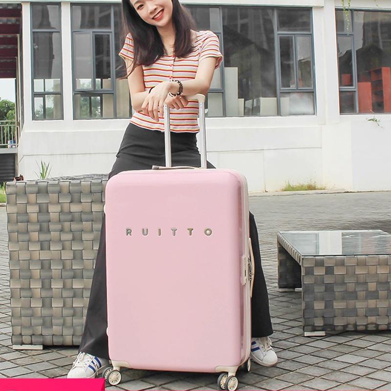 """☃RUITTO """" กระเป๋าสัมภาระหญิง น้ำหนักเบา กระเป๋าเดินทางขนาดเล็ก กระเป๋าเดินทางใบเล็ก กระเป๋าเดินทางขนาด 20 นิ้ว น่ารัก"""