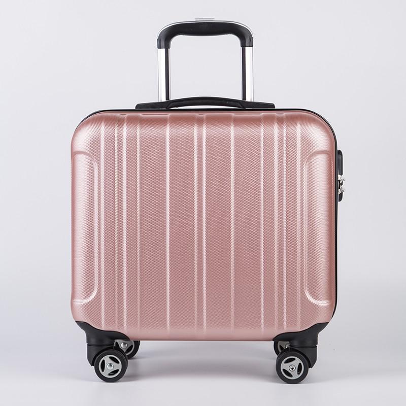 ✟㍿มินิกระเป๋าเดินทางหญิง 18 นิ้วรถเข็นชายสากลล้อ 17 นิ้วธุรกิจกระเป๋าเดินทางขนาดเล็กกระเป๋าเดินทาง 16 นิ้ว