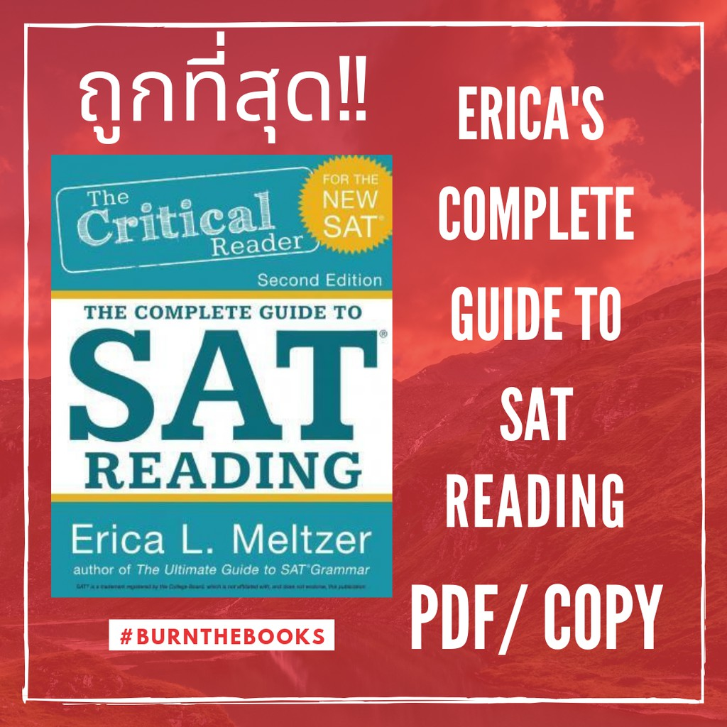 The Critical Reader: The Complete Guide to SAT Reading by Erica