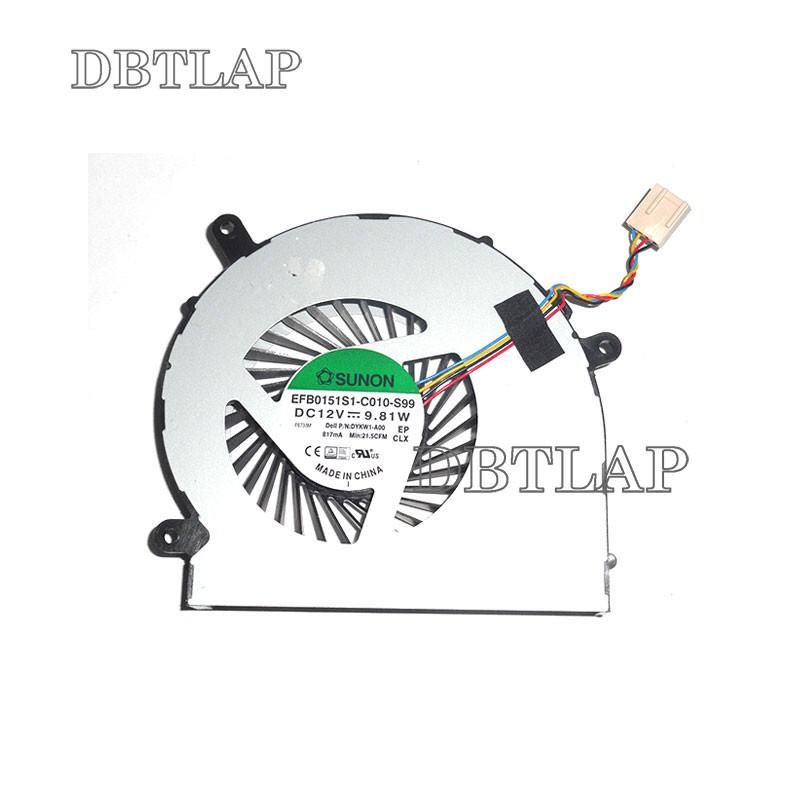 พัดลมสำหรับ Dell Inspiron 24 5459 All-In-One Desktop CPU Fan TXA01 DYKW1