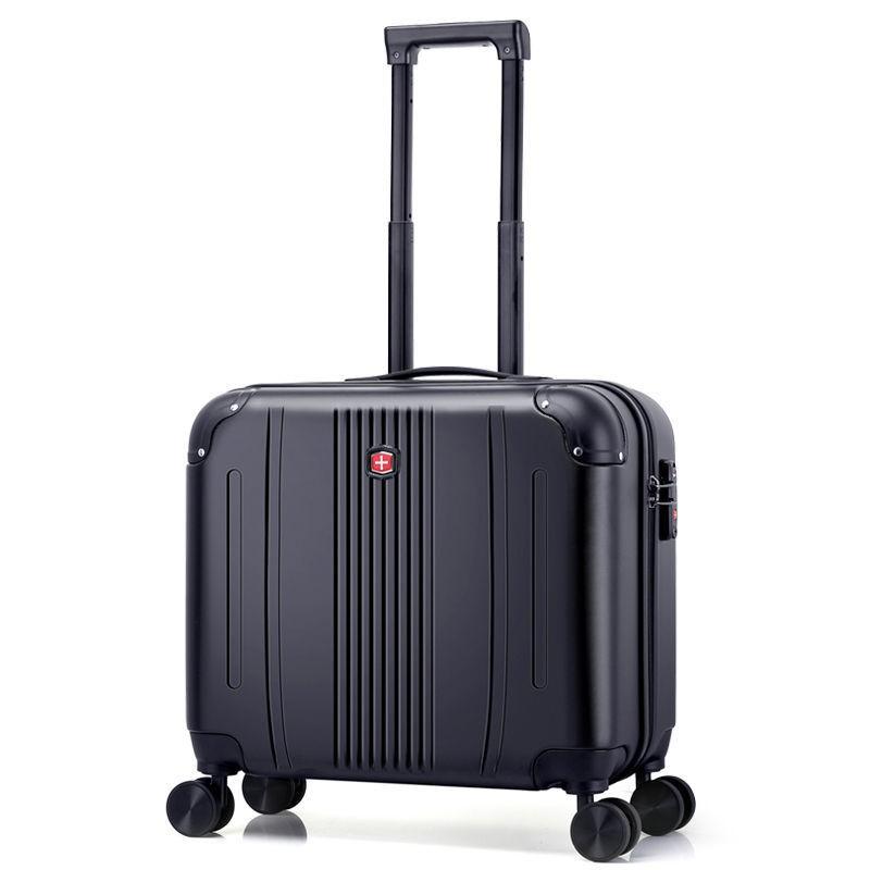 ◎℗㍿กระเป๋าใส่มีดกองทัพสวิสชาย 18 นิ้วขนาดเล็กน้ำหนักเบากระเป๋าเดินทางหญิงน่ารักญี่ปุ่น 16 นิ้วรถเข็นกระเป๋าเดินทาง