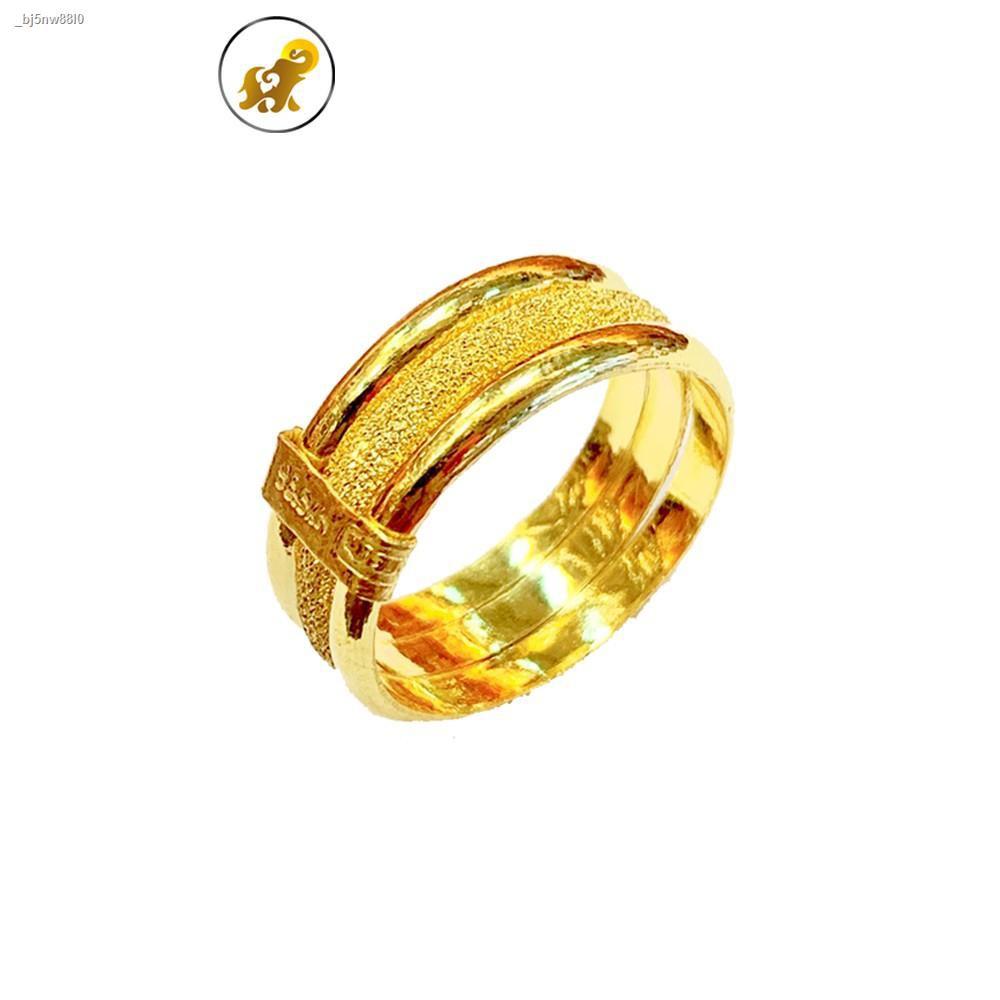 ราคาต่ำสุด♘☬PGOLD แหวนทอง1 สลึง กิ๊ฟ หนัก 3.8 กรัม ทองคำแท้ 96.5% มีใบรับประกัน