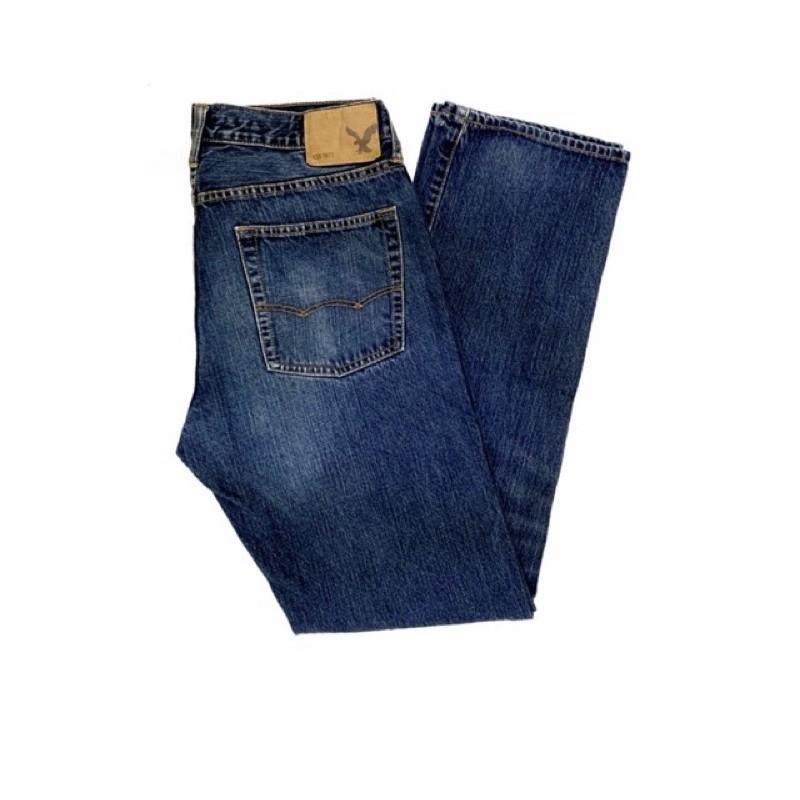 กางเกงยีนส์ american eagle👖blue straight fit
