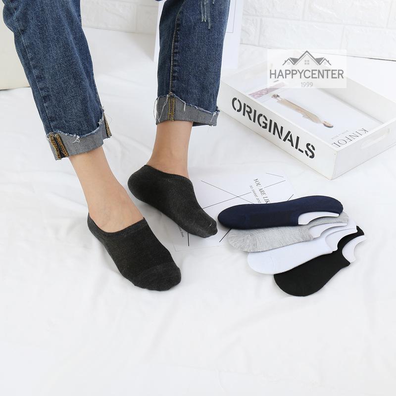 ?ถุงเท้าซ่อน เว้าข้อ สไตล์ญี่ปุ่น ผ้า cotton นิ่ม มียางกันหลุดที่ส้นเท้าด้านใน ใส่มิดชิดกระชับในรองเท้า hc99