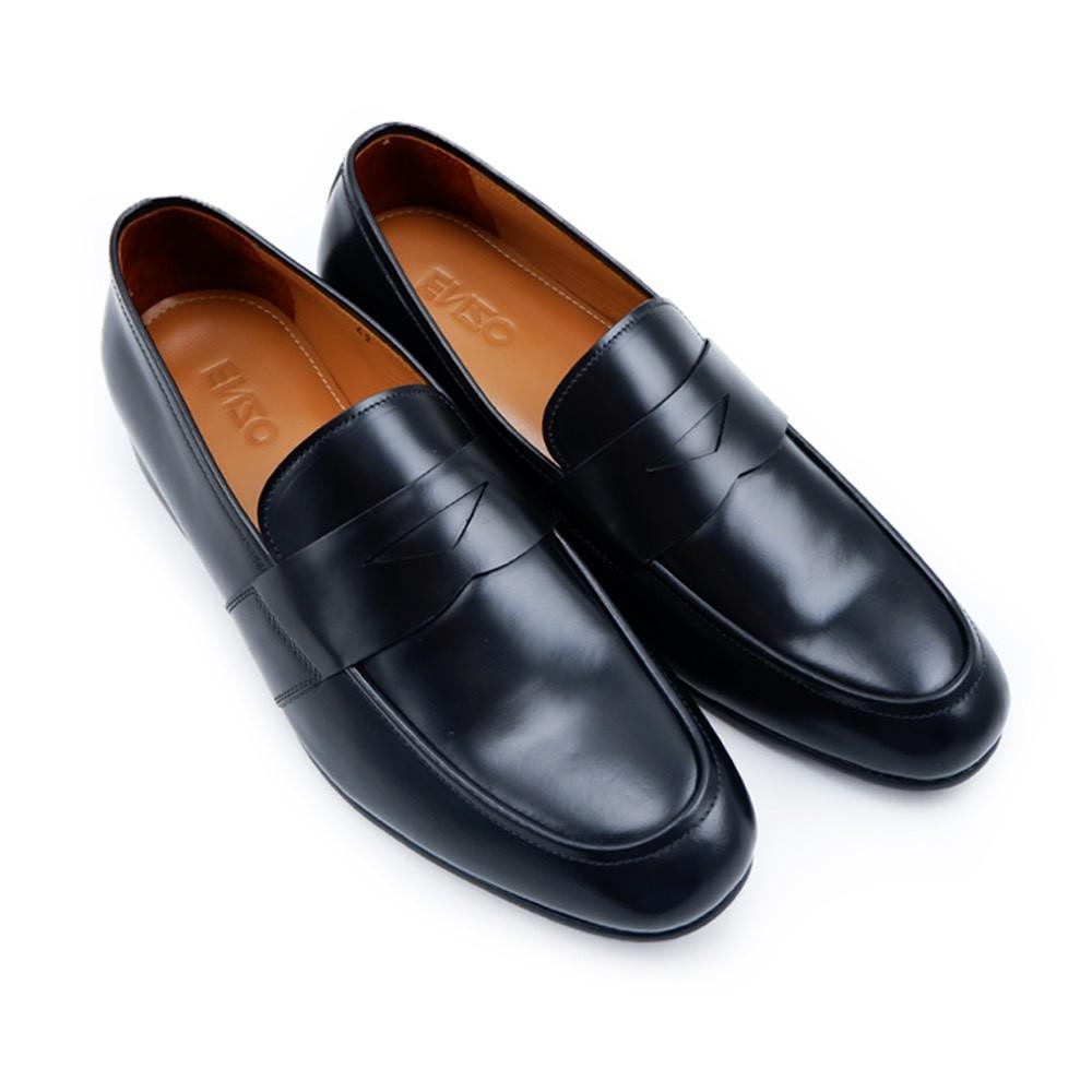 รองเท้าคัชชูสีดำหนังแท้คุณภาพสูง - ยี่ห้อ Enzo Gallo