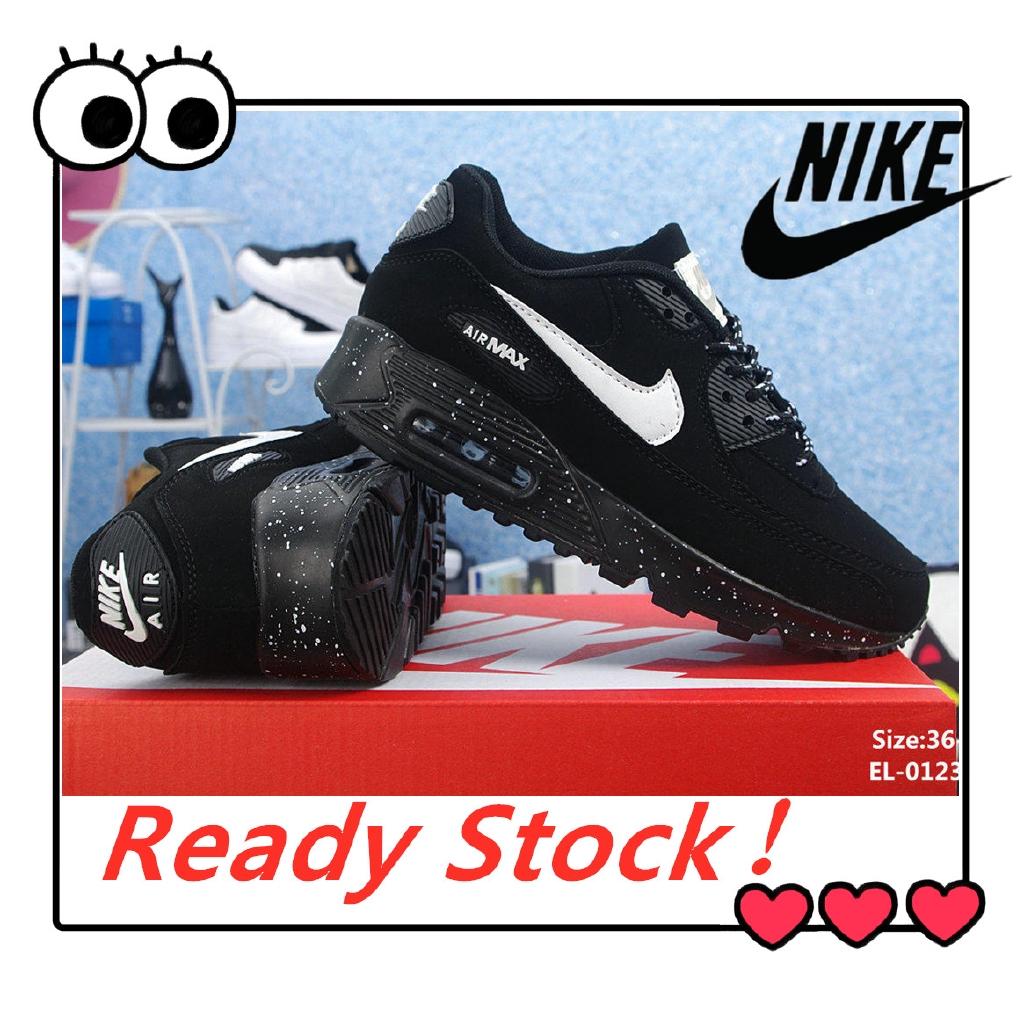 การลดราคา Ready Stock Ori 100% 0riginalNike NIKE Air Max 90 Low Cut Unisex Men Women Running Sports Shoes Kasut Sneakers