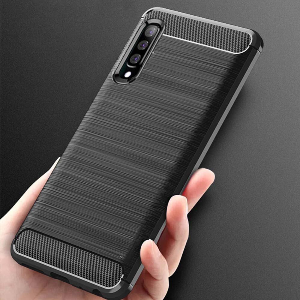 Samsung Galaxy A6s A9s A8s A9 Star Pro Lite รุนแรง ผอม อ่อนนุ่ม ยางทำจากซิลิคอน Matte คาร์บอน ไฟเบอร์ กรณี ปก Soft Case