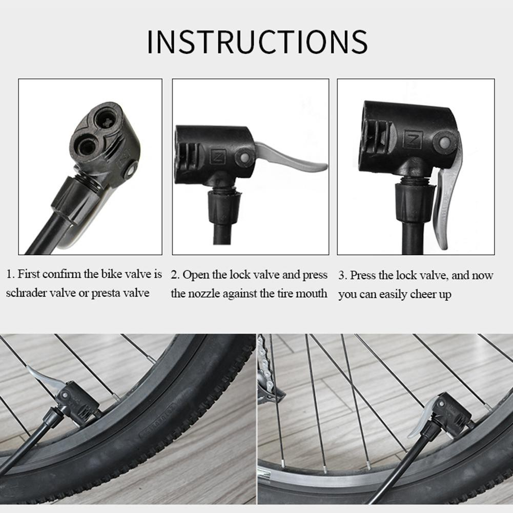 Wheelup Aluminum Bicycle Bike Pump Tire Tyre Inflator w//Gas Pressure Gauge NIGH