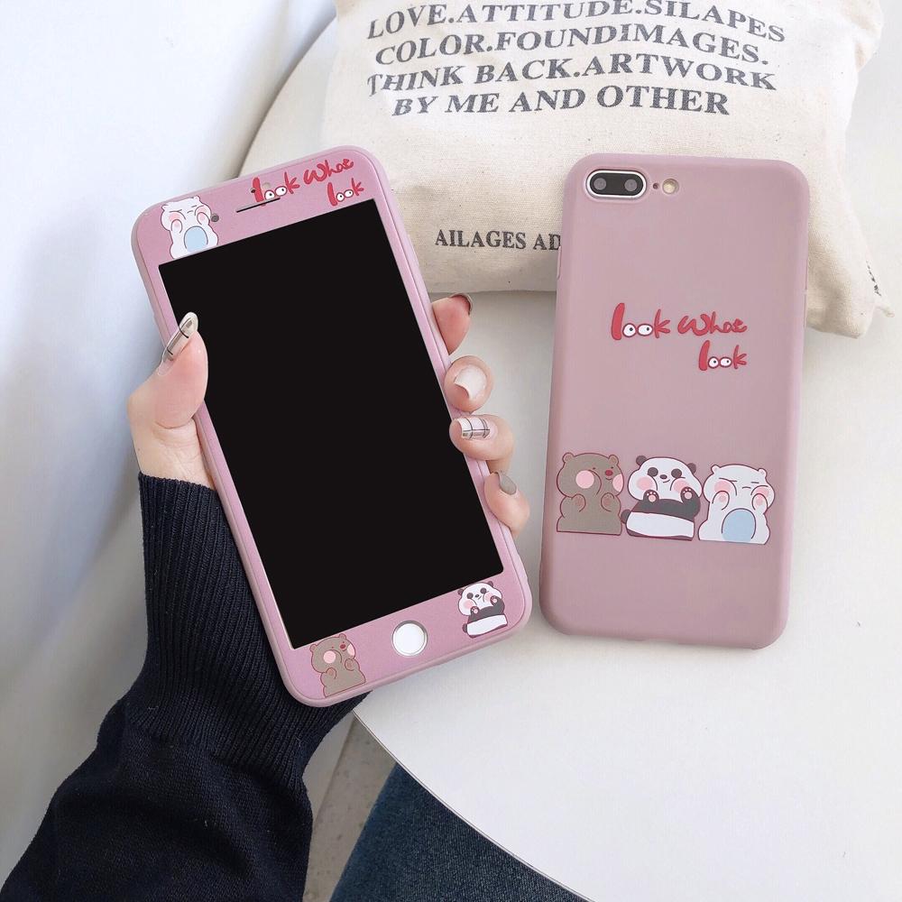 เคสโทรศัพท์มือถือแบบสองสีสําหรับ iphone 6 6s 7 8 plus se xr