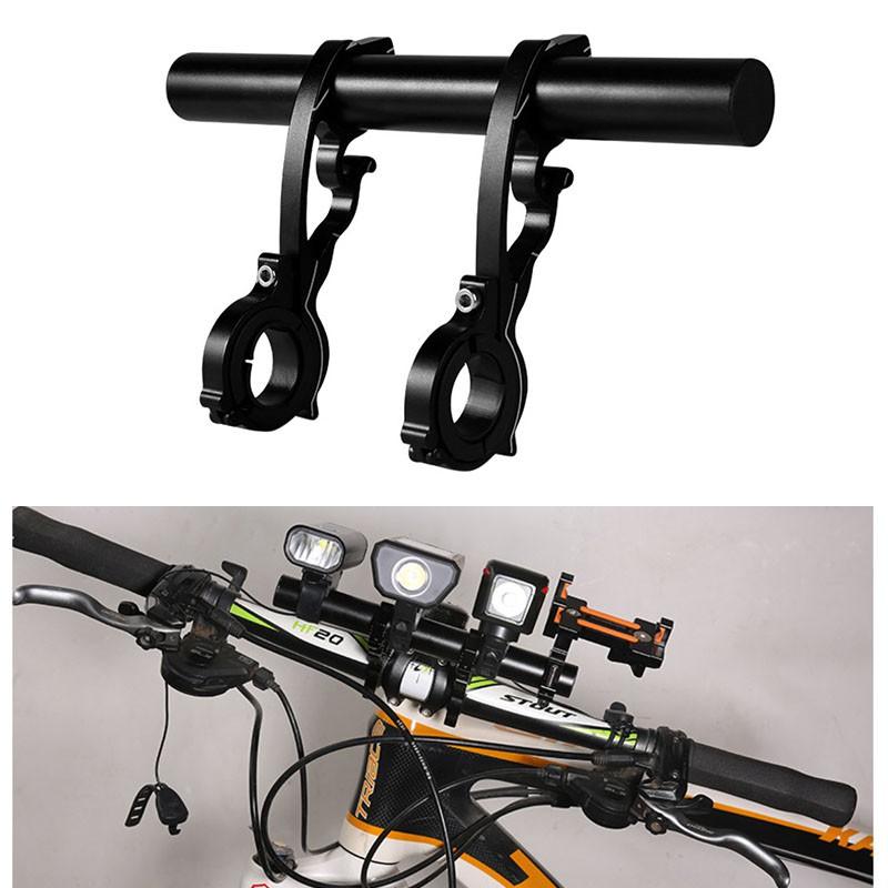 Bike Bracket Handlebar Extender Extension Expand Mount Computer Light Holder