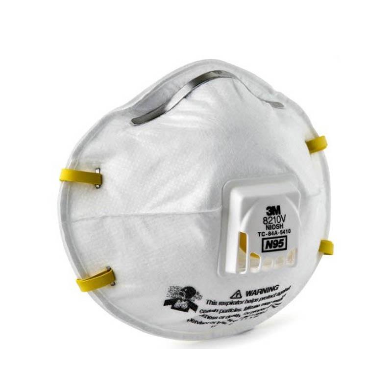 ❃☒【สินค้าคงคลัง 】 3M 8210V N95 (กล่อง10ชิ้น) หน้ากากป้องกันฝุ่นชนิดมีวาล์ว Mask 3M Valved Respirator 8210V ของแท้ 100% พ