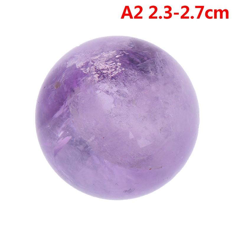 1Pc Natural Amethyst Quartz Stone Sphere Crystal Fluorite Ball Healing Gemstone