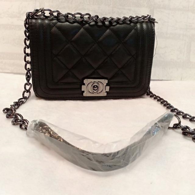 """กระเป๋าแฟชั่น กระเป๋าสะพายข้างผู้หญิง สไตล์ Chanel Boy 9"""""""