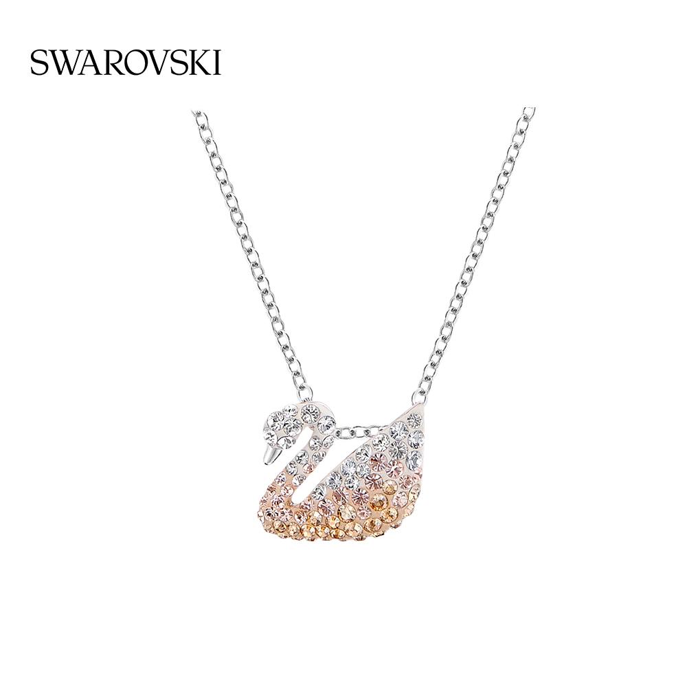 Swarovski ไล่ระดับสีหงส์(เล็กๆน้อยๆ) ICONIC SWAN ของขวัญสร้อยคอหญิงที่เรียบง่ายเพื่อส่งสาวๆ11
