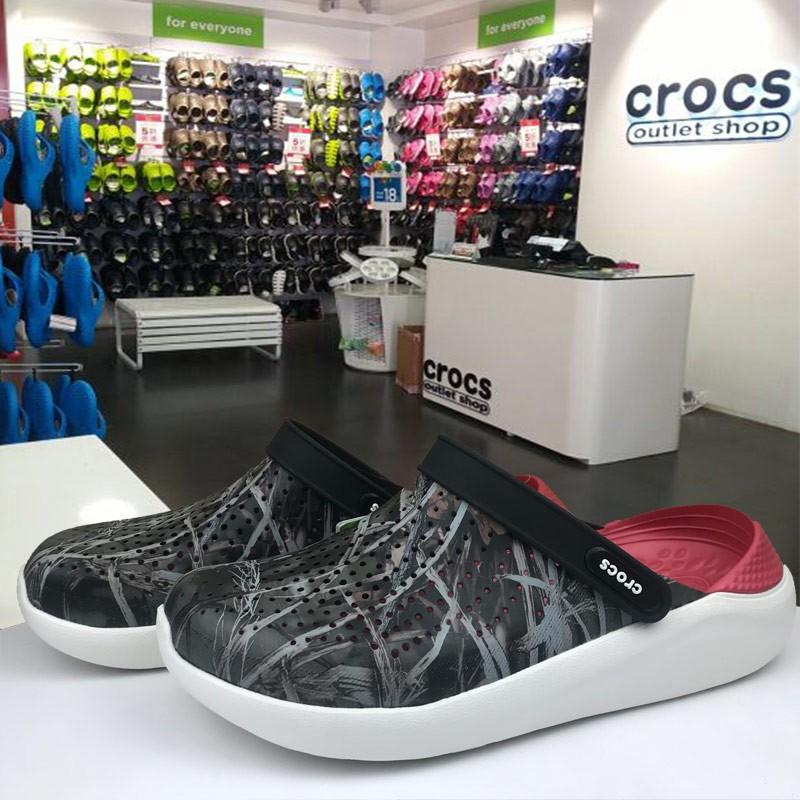 Crocs แท้ผู้ชายและรองเท้าผู้หญิง literide รองเท้าแตะชายหาด