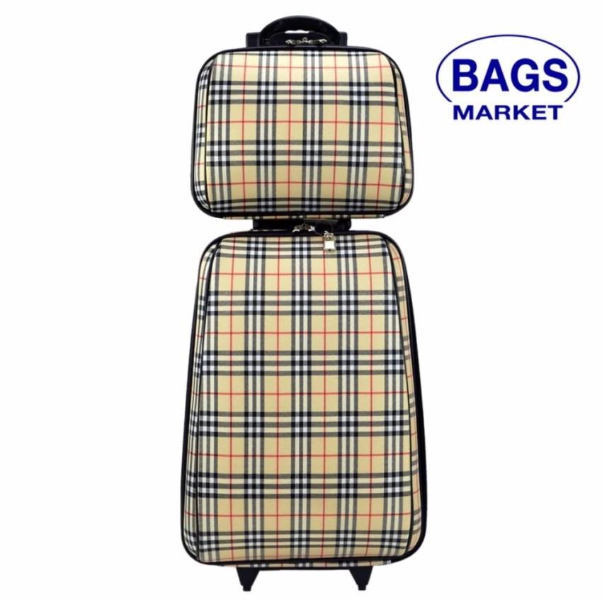 กระเป๋าเดินทาง กระเป๋าเดินทางล้อลาก Wheal เซ็ทคู่ ลิขสิทธิ์ของแท้ 20/14 นิ้ว Scott Cream Cl กระเป๋าล้อลาก กระเป๋าเดินทาง