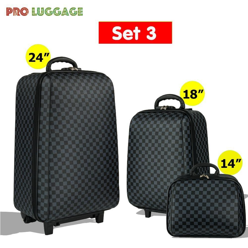 💜MZ Polo กระเป๋าเดินทาง ล้อลาก ระบบรหัสล๊อค เซ็ท 3 ใบ (24 +18 +14 ) นิ้ว รุ่น Luxury Set M009
