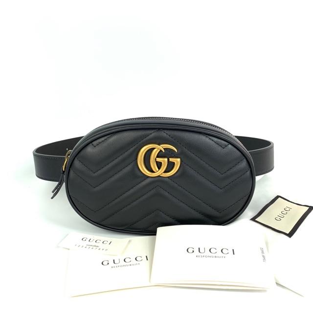 New! Gucci Marmont Belt bag 17.5x11x5cm มีพร้อมส่ง 3 สีจ้า ขนาดมี 85,95 ราคาSale!!
