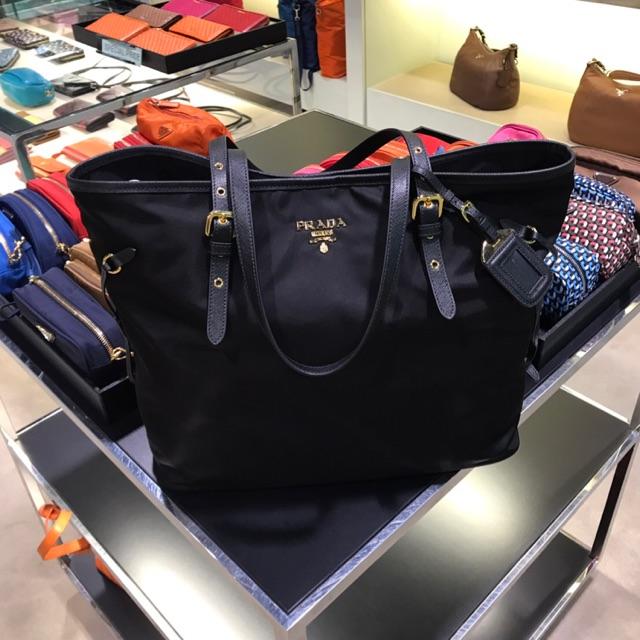 0706ade41620 กระเป๋า Prada Tessuto Saffian Black Nylon Logo Messenger Bag Mens | Shopee  Thailand