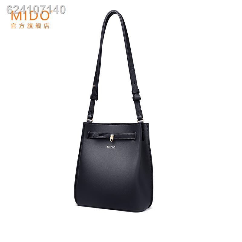 ✴✸MIDO / Leather Messenger กระเป๋าใบเล็กกระเป๋าเดินทางหญิงสไตล์ตะวันตกกระเป๋าสะพายรักแร้ความรู้สึกระดับไฮเอนด์ของการออก