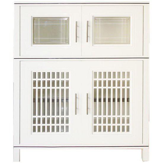 ครัวอลูมิเนียมสำเร็จรูป ตู้อเนกประสงค์ KING ZEN KB1-125 สีขาว ชุดครัวสำเร็จรูป ห้องครัวและอุปกรณ์ KING88.4X124.8CM WH ZE
