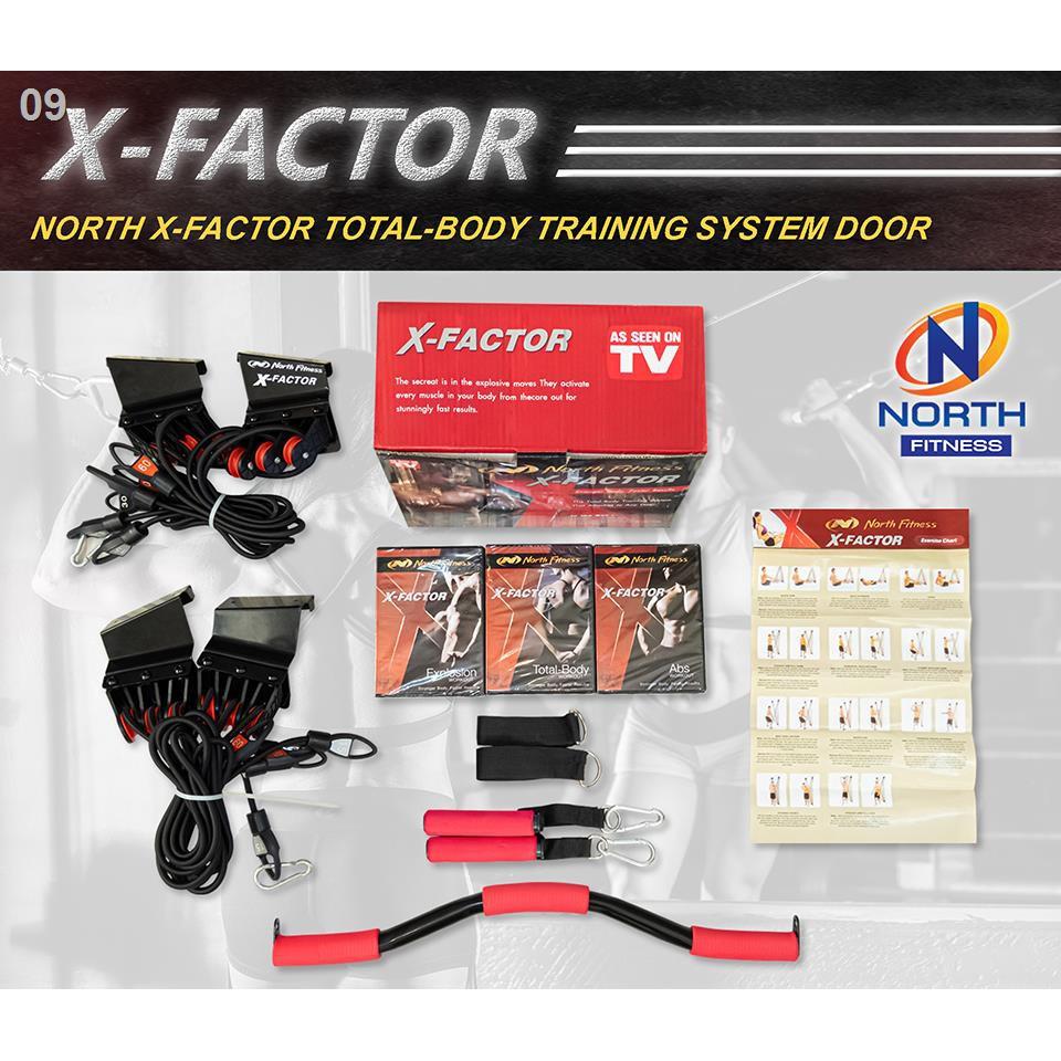 ❒เครื่องออกกำลังกายสายแรงต้านยางยืดติดตั้งกับประตู ออกกำลังกาย เครื่องออกกำลังกาย อุปกรณ์ออกกำลังกาย X-Factor By North F