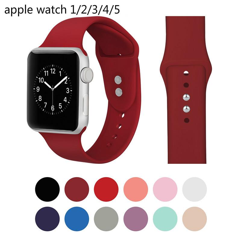 สิบสองสี applewatch สาย สำหรับ Apple Watch Series 5/4/3/2/1 ขนาด 38มม40มม42มม44 มม.