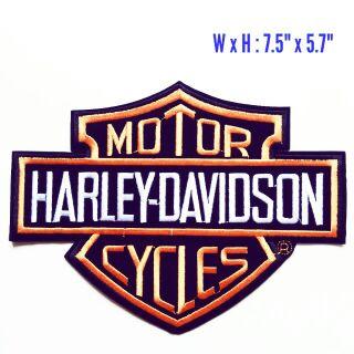 New Sew-On Big Harley Davidson Patch